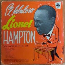 Discos de vinilo: LIONEL HAMPTON AND HIS ALL STARS -EL FABULOSO...LP 1959 SPAIN. Lote 260703595