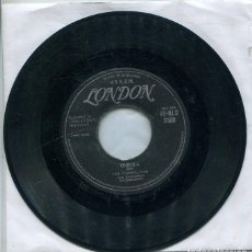 Discos de vinilo: THE CHAMPS / TEQUILA / TRAIN TO NOWHERE (SINGLE LONDON INGLES). Lote 260714225