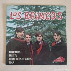 Discos de vinilo: LOS BRINCOS - BORRACHO - RARO EP EDITADO EN FRANCIA AÑO 1965 CON LENGÜETA ORIGINAL ESTADO COMO NUEVO. Lote 260723070