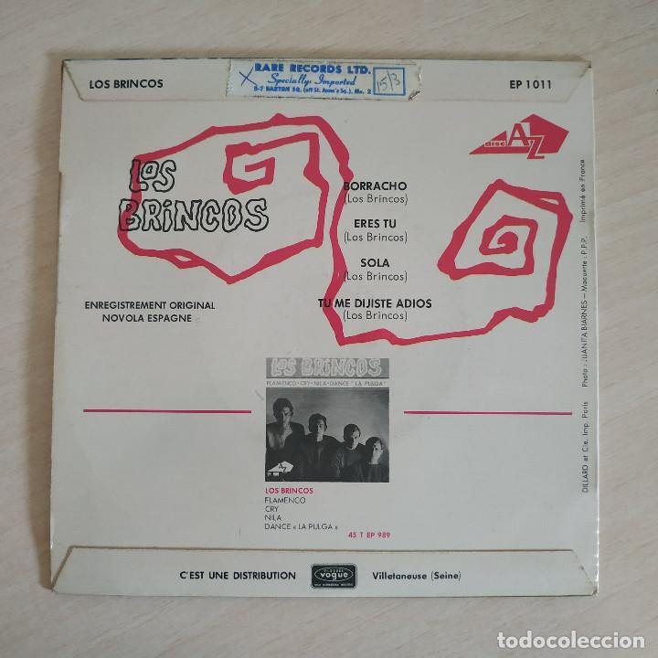 Discos de vinilo: LOS BRINCOS - BORRACHO - RARO EP EDITADO EN FRANCIA AÑO 1965 CON LENGÜETA ORIGINAL ESTADO COMO NUEVO - Foto 2 - 260723070