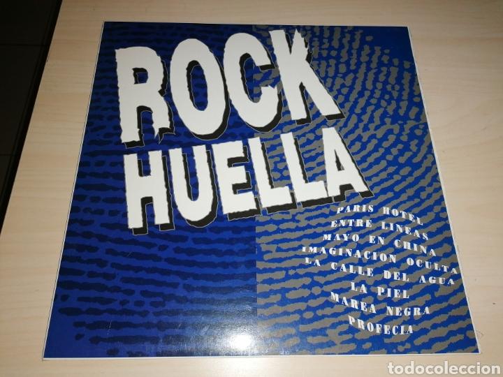 ROCK HUELLA LP 1992 RECOPILATORIO GRUPOS POP ROCK CANARIAS. RARO (Música - Discos - LP Vinilo - Grupos Españoles de los 90 a la actualidad)