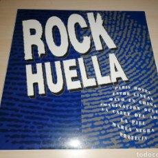 Disques de vinyle: ROCK HUELLA LP 1992 RECOPILATORIO GRUPOS POP ROCK CANARIAS. RARO. Lote 260725405