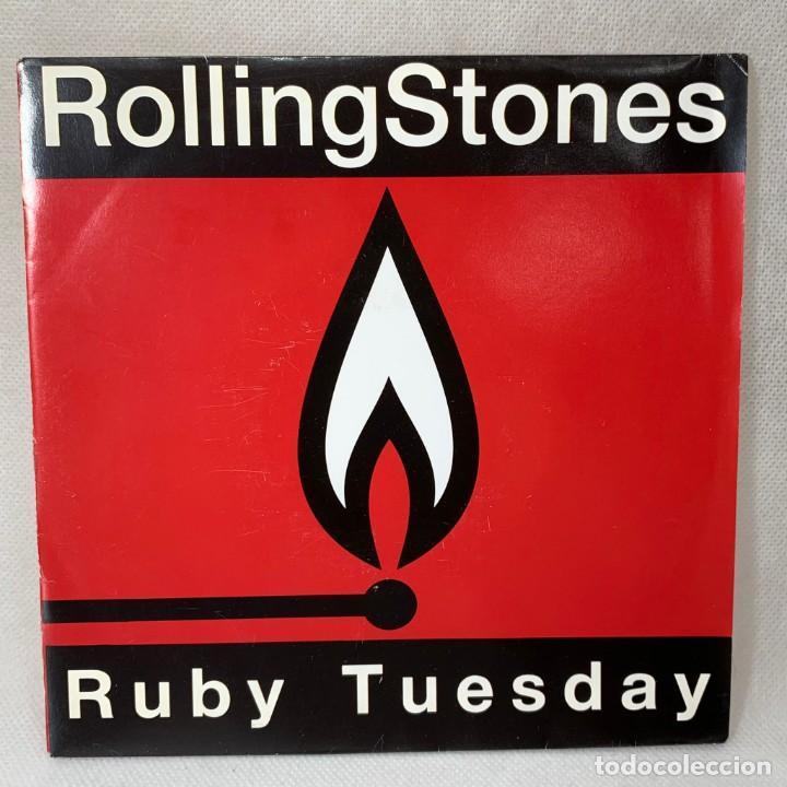 SINGLE THE ROLLING STONES - RUBY TUESDAY - ESPAÑA - AÑO 1991 (Música - Discos - Singles Vinilo - Pop - Rock Internacional de los 90 a la actualidad)
