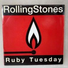 Discos de vinilo: SINGLE THE ROLLING STONES - RUBY TUESDAY - ESPAÑA - AÑO 1991. Lote 260735180