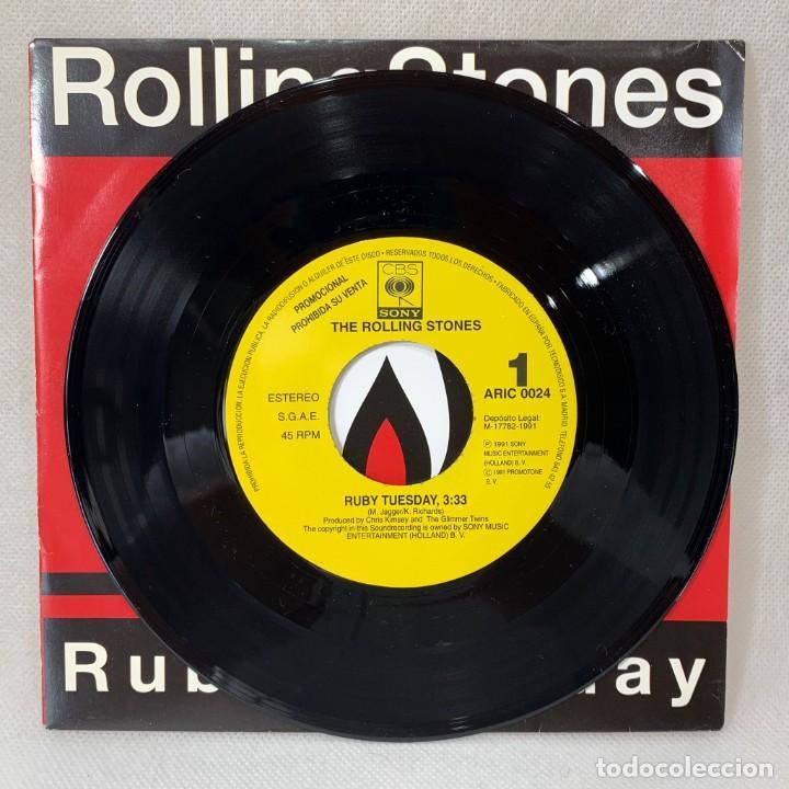 Discos de vinilo: SINGLE THE ROLLING STONES - RUBY TUESDAY - ESPAÑA - AÑO 1991 - Foto 2 - 260735180