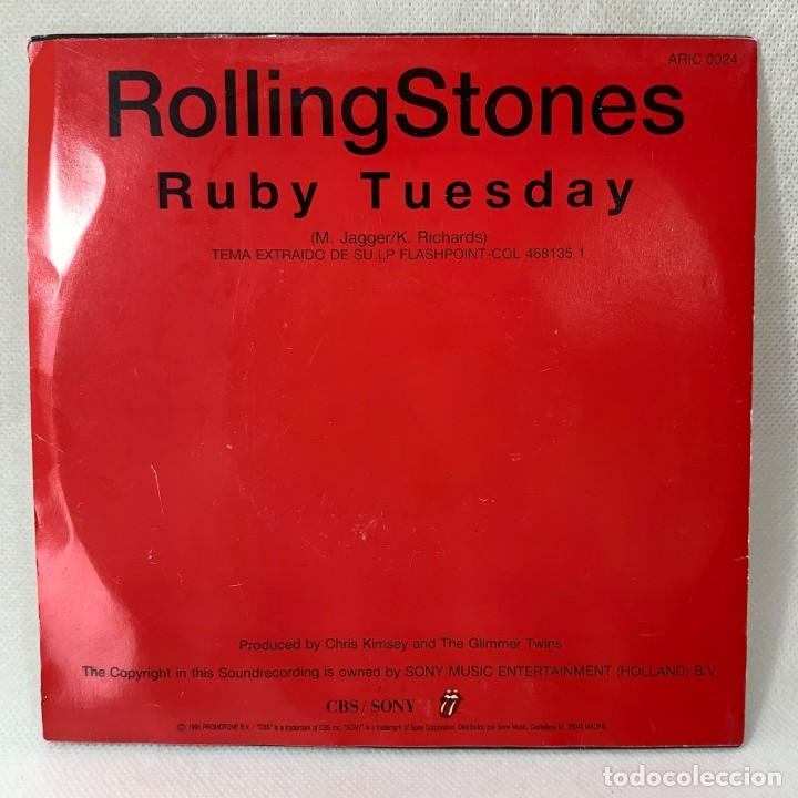 Discos de vinilo: SINGLE THE ROLLING STONES - RUBY TUESDAY - ESPAÑA - AÑO 1991 - Foto 4 - 260735180