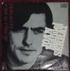 Discos de vinilo: JOAN MANUEL SERRAT (DE MICA EN MICA / LA CARMETA) SINGLE 1969. Lote 260738730