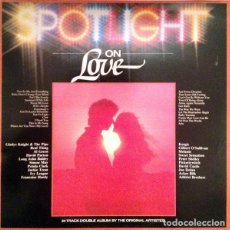 Discos de vinilo: SPOTLIGHT ON LOVE * 2LP * UK 1980 * KORGIS / FRANCOISE HARDY / MELANIE / REAL THING. Lote 260781830