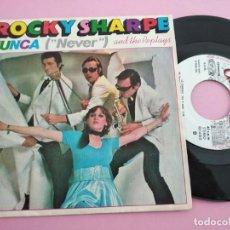 Discos de vinilo: ROCKY SHARPE AND THE REPLAYS - NUNCA ( NEVER). Lote 260785555