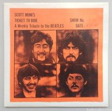 Discos de vinilo: BEATLES - SCOTT MUNI'S TICKET TO RIDE - 2LP. Lote 260790575