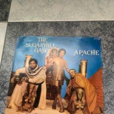 Discos de vinilo: THE SUGARHILL GANG APACHE. Lote 260791800
