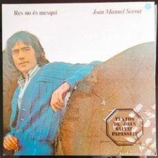 """Discos de vinilo: DISCO LP VINILO """"RES NO ES MESQUÍ"""" DE JOAN MANUEL SERRAT, 1977.. Lote 260818790"""