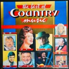 "Discos de vinilo: DISCO LP VINILO RECOPILATORIO ""THE BEST OF COUNTRY MUSIC"". DISCOGRÁFICA FUN - BÉLGICA.. Lote 260833285"