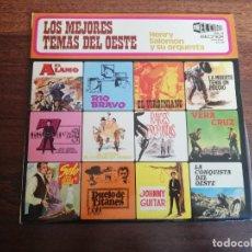 Disques de vinyle: LOS MEJORES TEMAS DEL OESTE-HENRY SALOMON Y SU ORQUESTA-LP. Lote 260851915