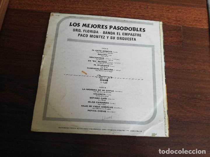 Discos de vinilo: Los mejores pasodobles-orq. Florida, banda el empastre, paco montez y su orquesta. Lp - Foto 2 - 260852740