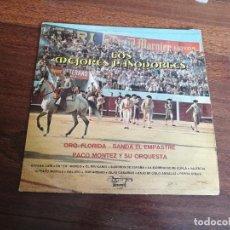 Discos de vinilo: LOS MEJORES PASODOBLES-ORQ. FLORIDA, BANDA EL EMPASTRE, PACO MONTEZ Y SU ORQUESTA. LP. Lote 260852740