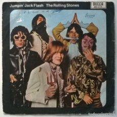 Discos de vinilo: ROLLING STONES. JUMPIN' JACK FLASH/ CHILD OF THE MOON. DECCA, SPAIN 1968 SINGLE. Lote 279345878