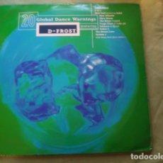 Discos de vinilo: D-FROST 20 GLOBAL DANCE WARNINGS. Lote 261104585