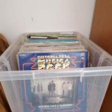 Discos de vinilo: GRAN CAJA DE DISCOS LOTE DE 105 DISCOS VARIOS ESTILOS TODOS LP. Lote 261105850