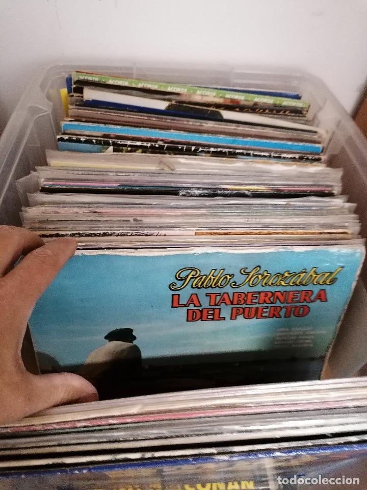 Discos de vinilo: gran caja de discos lote de 105 discos varios estilos todos LP - Foto 8 - 261105850