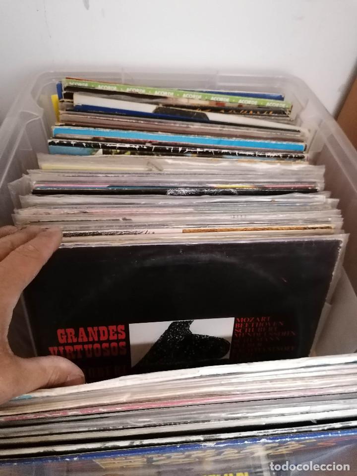 Discos de vinilo: gran caja de discos lote de 105 discos varios estilos todos LP - Foto 9 - 261105850