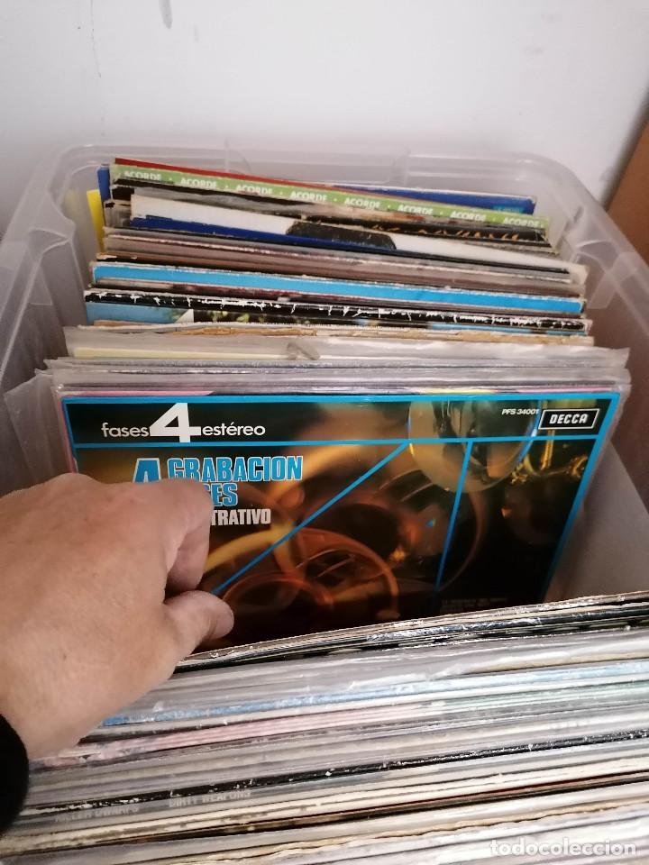 Discos de vinilo: gran caja de discos lote de 105 discos varios estilos todos LP - Foto 18 - 261105850