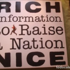 Discos de vinilo: RICH NICE INFORMATION TO RAISE A NATION. Lote 261109540