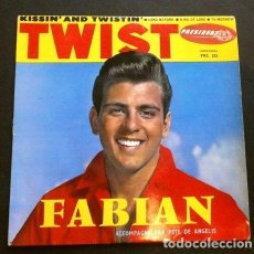 Discos de vinilo: FABIAN (EP. FRANCE 1962) KISSIN' AND TWISTIN - KING OF LOVE - TOMORROW - LONG BEFORE. Lote 261112925