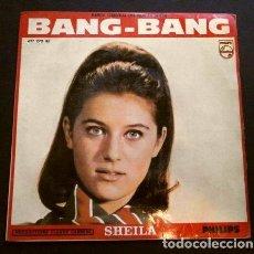 Disques de vinyle: SHEILA (EP. 1966) BSO FILM FRANCE BANG BANG - LA HORA DE SALIDA (L'HEURE DE LA SORTIE). Lote 261120550