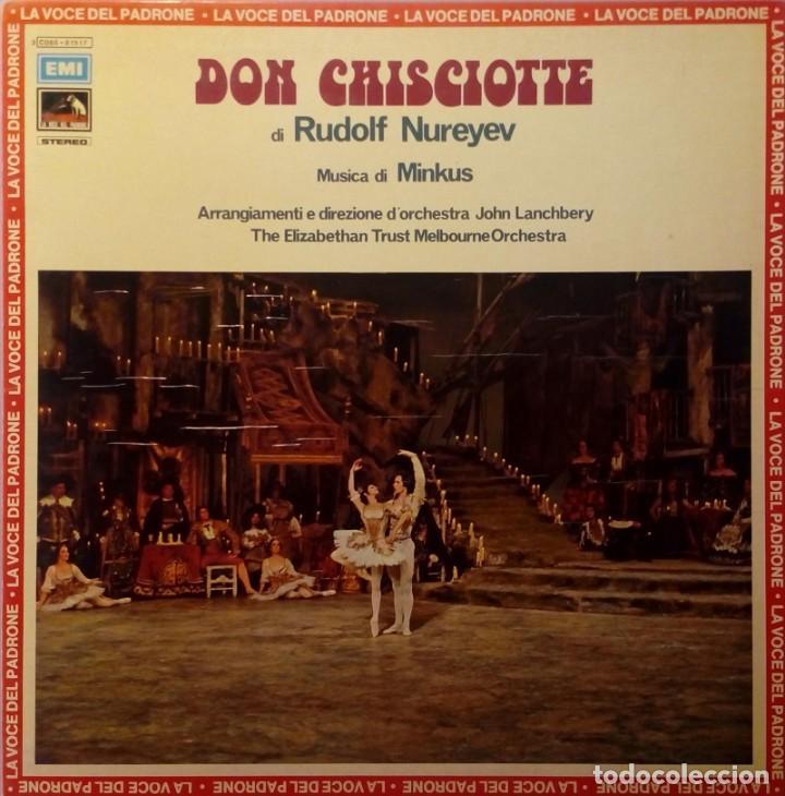 LP DON CHISCIOTTE DI RUDOLF NUREYEV MINKUS LA VOZ DE SU AMO DIRIGE: LANCHBERY (Música - Discos - LP Vinilo - Clásica, Ópera, Zarzuela y Marchas)