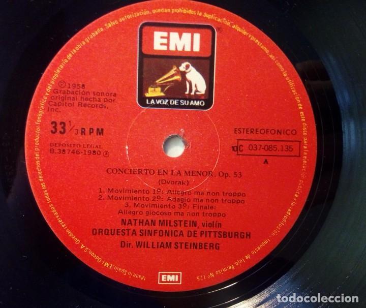 Discos de vinilo: LP Conciertos violín y orquesta Dvorak Glasunow Nathan Milstein Dirige : Steinberg - Foto 4 - 261147420