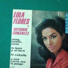 Disques de vinyle: LOLA FLORES Y ANTONIO GONZALEZ. PENA, PENITA, PENA + 3 EP BELTER 1964. Lote 261175310