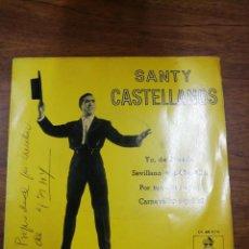 Discos de vinilo: SANTY CASTELLANOS CON AUTOGRAFO. Lote 261176295