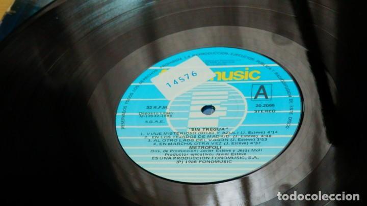 Discos de vinilo: METROPOLI * LP Vinilo * 1986 * Sin tregua * Insert * Mermelada / Rigor Mortis * RARE!! - Foto 2 - 261191415