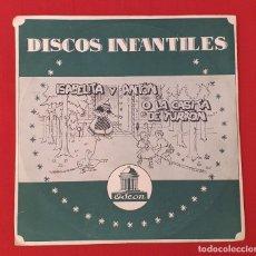 Discos de vinilo: DISCO INFANTIL ISABELITA Y ANTÓN Ó LA CASITA DE TURRÓN. Lote 261192055