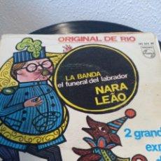 Discos de vinilo: NARA LEAO.** LA BANDA* EL FUNERAL DEL LABRADOR**. Lote 261192200