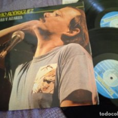 Discos de vinilo: SILVIO RODRÍGUEZ DOBLE LP. CAUSAS Y AZARES. MADE IN SPAIN. 1986. Lote 261203430