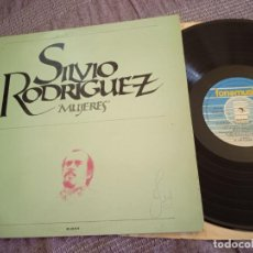 Discos de vinilo: SILVIO RODRÍGUEZ LP. MUJERES. MADE IN SPAIN. 1984. Lote 261204630
