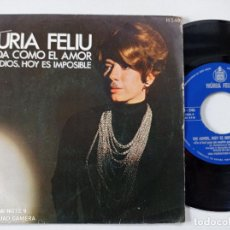Discos de vinilo: NURIA FELIU - NADA COMO EL AMOR - SINGLE HISPAVOX 1969. Lote 261210210