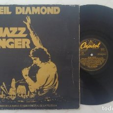 Discos de vinilo: NEIL DIAMOND BSO THE JAZZ SINGER CAPITOL 1980 PORTADA DOBLE. Lote 261211630
