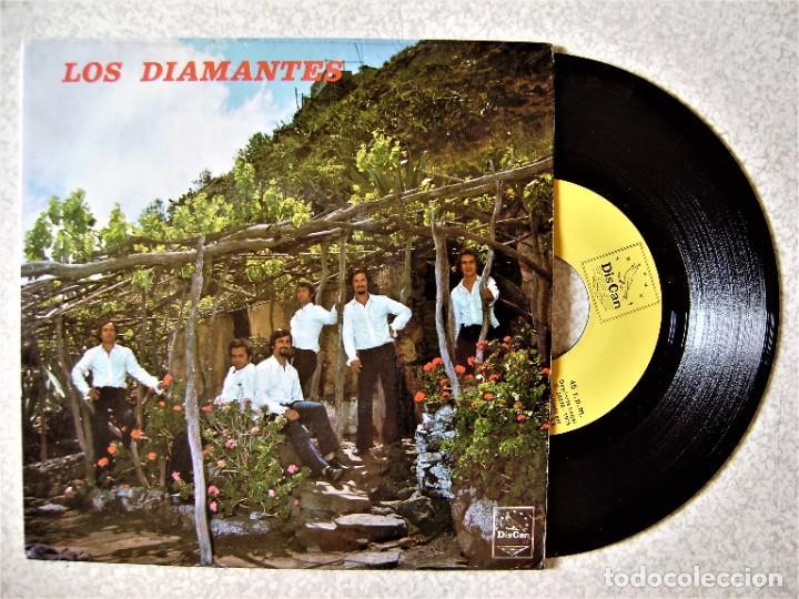 LOS DIAMANTES..BARCAROLA + 3...MUY RARO...ORQUESTA CANARIA...EX (Música - Discos de Vinilo - EPs - Grupos Españoles de los 70 y 80)