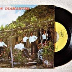 Discos de vinilo: LOS DIAMANTES..BARCAROLA + 3...MUY RARO...ORQUESTA CANARIA...EX. Lote 261214940