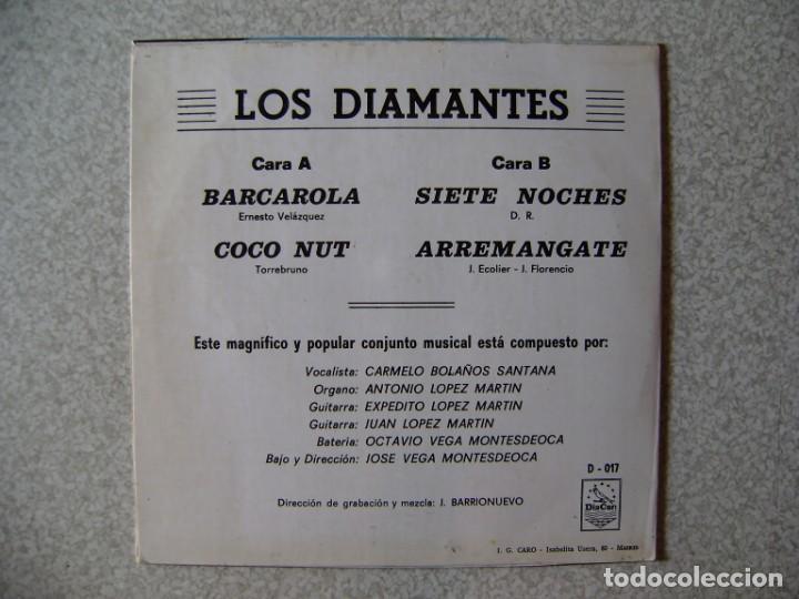 Discos de vinilo: LOS DIAMANTES..BARCAROLA + 3...MUY RARO...ORQUESTA CANARIA...EX - Foto 2 - 261214940