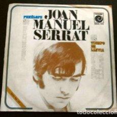 Discos de vinilo: JOAN MANUEL SERRAT (SINGLE 1969) PENELOPE - TIEMPO DE LLUVIA. Lote 261221740