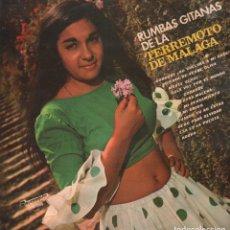 Discos de vinilo: TERREMOTO DE MALAGA - RUMBAS GITANAS / LP OLYMPO DE 1973 / MUY BUEN ESTADO RF-9528. Lote 261224255