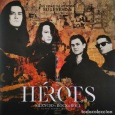 Discos de vinilo: HÉROES DEL SILENCIO – HÉROES: SILENCIO Y ROCK&ROLL -2 LP + 2 CD-. Lote 261229440