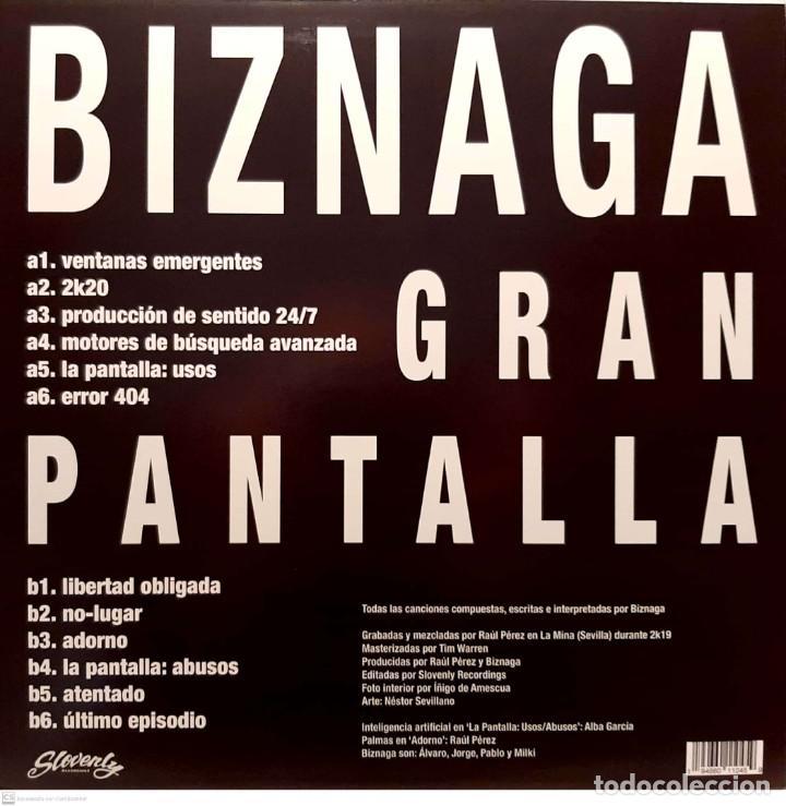 Discos de vinilo: Biznaga – Gran Pantalla - Foto 2 - 261233875