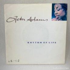 Discos de vinilo: SINGLE OLETA ADAMS - RHYTHM OF LIFE - UK - AÑO 1990. Lote 261243900