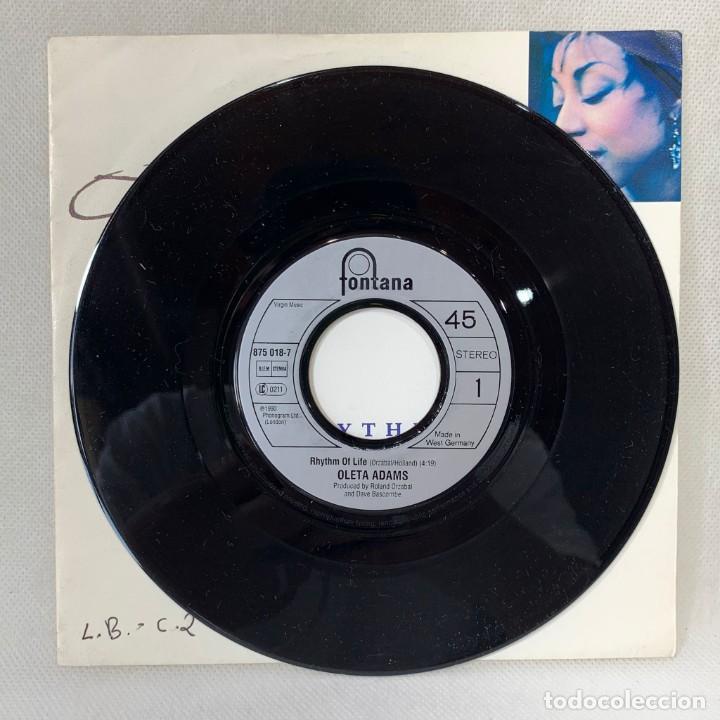 Discos de vinilo: SINGLE OLETA ADAMS - RHYTHM OF LIFE - UK - AÑO 1990 - Foto 2 - 261243900