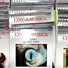 """Discos de vinilo: COLECCION COMPLETA SALVAT """"CINE Y MÚSICA"""" 60 DISCOS + 4 TOMOS. Lote 261244650"""